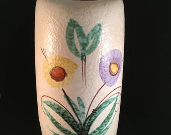 West German VASE - Scheurich - Cream with Flower pattern