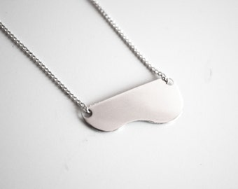Handmade Silver Curve Necklace