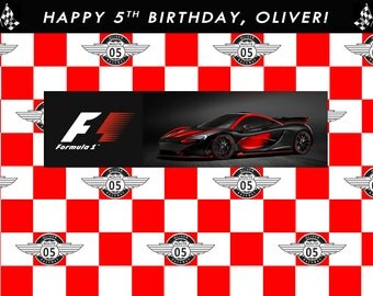 Digital file only- Car Racing Birthday Party Banner, Car Racing Birthday Party Back Drop, Car Racing Party, Boys Birthday Party Theme, Print
