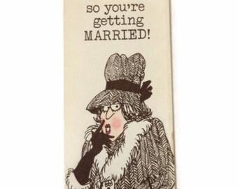 Vintage Wedding Card, Vintage Engagement Card, Retro Wedding Card, Retro Engagement Card, MCM Wedding Card, Hi Brows Card, Retro Humor Card