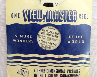 Vintage SAWYER'S INC. Goldilocks and Three Bears View Master Reels Set of 3 1963