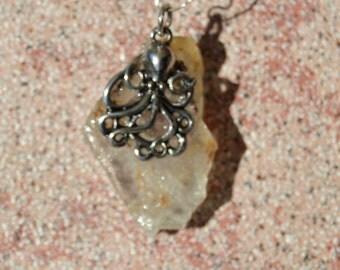 Calcite with Octopus pendant