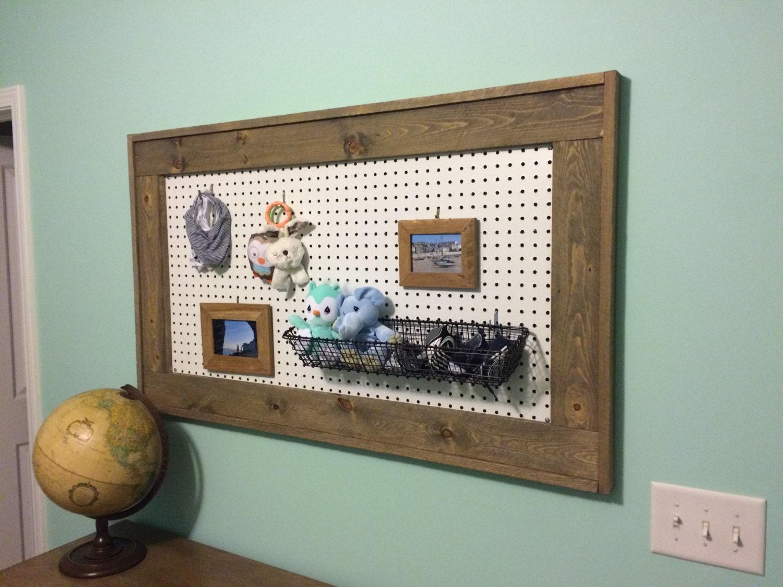 framed pegboard wall hanging by jmbeckerproducts on etsy. Black Bedroom Furniture Sets. Home Design Ideas