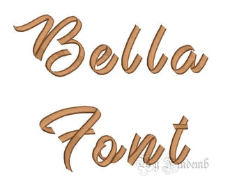 Bella Embroidery Font Designs 5 size Instant Download
