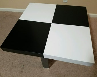 CHIC MODULAR Chess-like Coffee/Side Table ( Black and White Grid )
