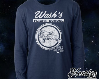 Wash's Flight School Ringspun Longsleeve T-Shirt