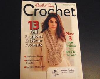 Quick & Easy  Magazine  Crochet patterns Summer 2016 vol 34 issue 3