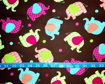 Baby Elephant Fabric-By-The-Yard