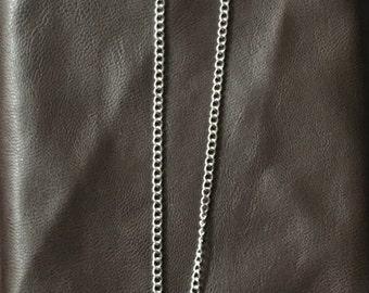 Textured cross necklace