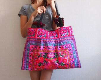 Handmade Boho Bag, Thai Bag, Hmong Bag,Hill Tribe Bag,Embroidered Bag,Woven Bag,Shoulder Bag, Ethnic Hmong Bag, Boho Handbag, Tribal Handbag