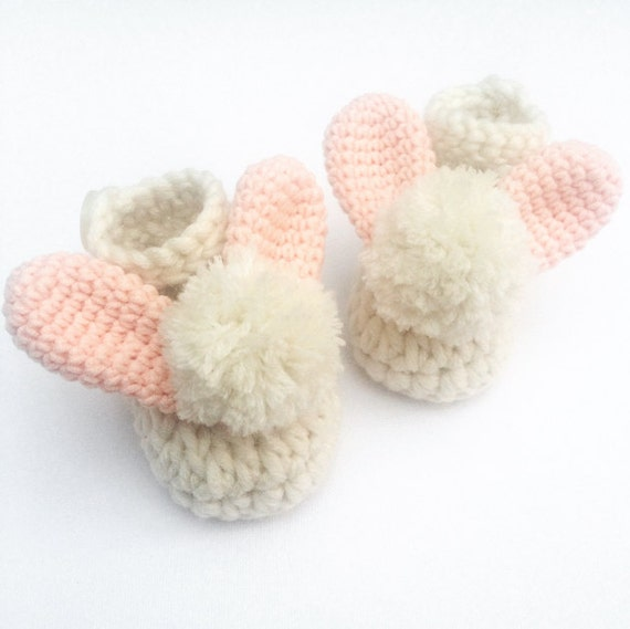 Crochet baby shoes easter baby gift baby booties new baby like this item negle Image collections