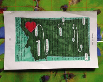 Blackout Poetry -  Montana Bound (Dealing with Blue) - Art and a Donation to AHA