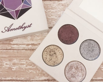 Pressed Eyeshadow palette - February birthstone - Amethyst
