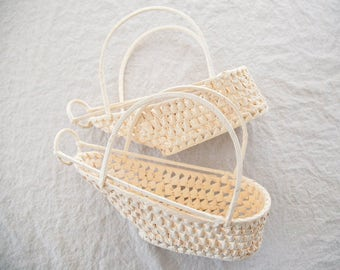 Vintage Woven Bottle Carrier (Set of 2)