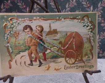 Pre 1911 Easter Greeting postcard