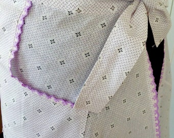Lilac Long & Lovely Vintage Apron