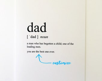 Dad Card - Fathers Day Card - Card for Dad - Friendship Card - Best Friend Card - Greeting Card - Humorous Greeting Card