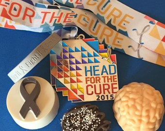 Chocolate Covered Oreo Chocolate Covered Brains Brain Cancer Grey Variety of Cookies Grey Ribbon Grey Matters Hope Fight Survivor Candy
