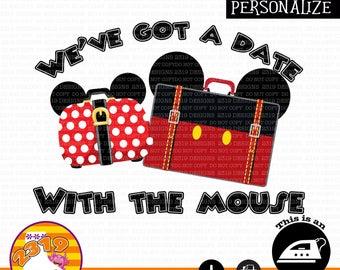 Disney Honeymoon Shirt printable iron on, Disneymoon Shirt printable iron on, Disney Couples printable iron on, Disney Travel Shirt iron on