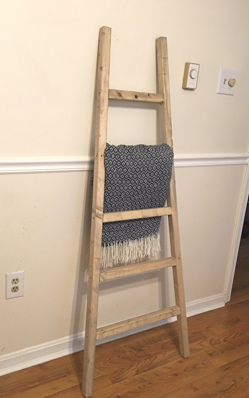 Rustic Reclaimed Wood Blanket Ladder, Towel Rack, Blanket Display, Wood  Blanket Holder, - Reclaimed Ladder Etsy