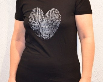 Digital heart T-shirt