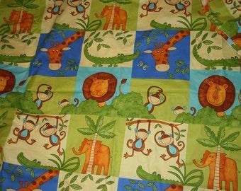 Safari fabric etsy for Kids jungle fabric