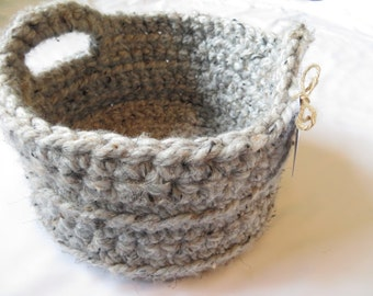 GrayMarble*Crocheted*Basket