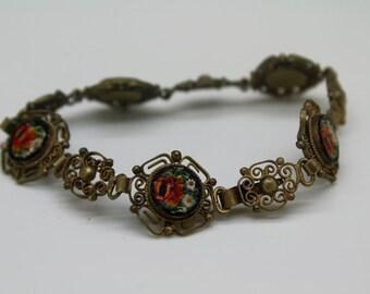 VINTAGE FILIGREE MICRO Mosaic Bracelet