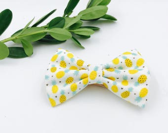Baby Girl Bow Headband - Nylon Headbands - Hair clip - Infant / Toddler /  Fabric Hair Bows / Clips - pineapple / fruit bow