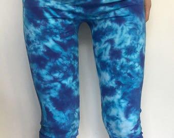 3/4 length tie dye leggings/tights