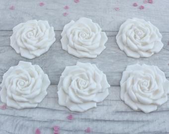 Rose cupcake topper, edible sugar roses, cupcake decorations, wedding cake toppers, rose cake decorations, birthday cupcakes, fondant roses
