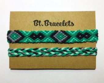 Bracelets Green/Black 3.50