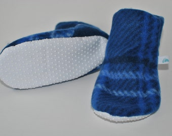 Toes-T-Toes Slippers (Blue Plaid)