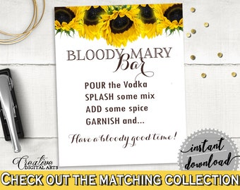 Bloody Mary Bridal Shower Bloody Mary Sunflower Bridal Shower Bloody Mary Bridal Shower Sunflower Bloody Mary Yellow White prints SSNP1