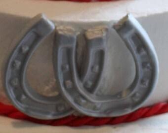 Gumpaste Horseshoe Cake Topper - Western