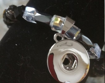 Custom order Crystal snap charm bracelet