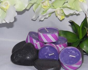 Violet Lime Soy Wax Tea Lights