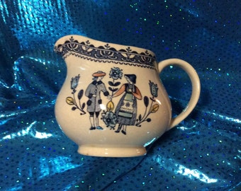 Transfer Ware Ironstone Creamer Made in England