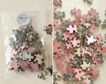 Vintage Puzzle Pieces - Crafts