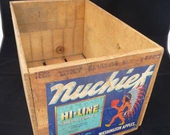 Vintage U.S. apple crate