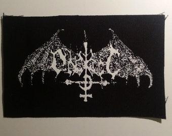 Ondskapt patch white logo black metal