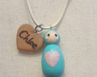 Personalised Peg Dolly Necklace