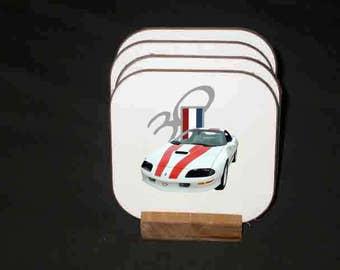 New 1997 Chevy 30th anniversary Camaro Hard Coaster set! FREE continental U.S. SHIPPING!!