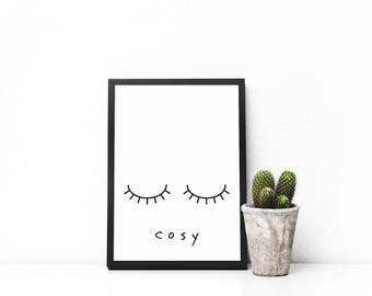 Cosy - A4 Print Unframed | Typography | Wall Art | Home Decor
