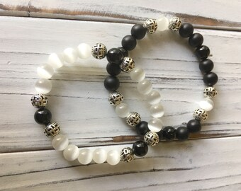 Ebony & Ivory bracelet set
