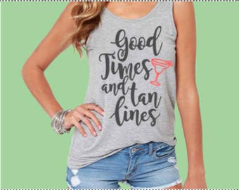 Good Times and Tan Lines SVG - Summer SVG - Silhouette File - Cut File