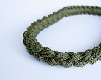 ROPE KNOT NECKLACE knotted plait long