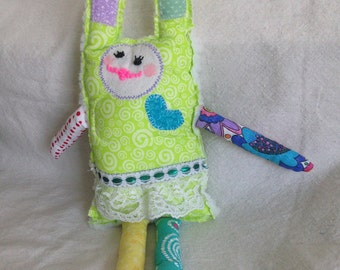 handmade rag doll bunnies