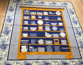 Buffet of Dishes Quilt - Patchwork - Courtepointe - Buffet rempli de jolies vaisselles