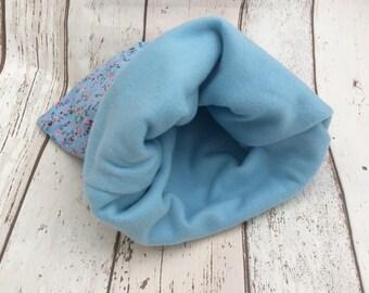 Floral Fleece Snuggle Sack